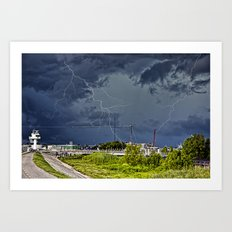 Storm near New Orleans Art Print