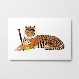 Softball Tiger Metal Print