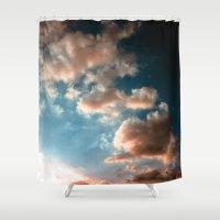 heaven Shower Curtains featuring Heaven by Sofia_Katsikadi