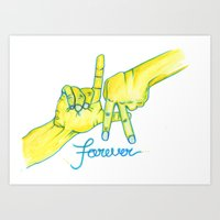 lakers Art Prints featuring Lakers Forever by NBA Textile