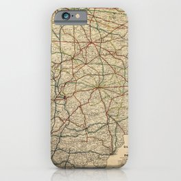 Vintage Map of The Indiana Railroad System (1896) iPhone Case