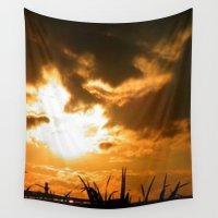 irish Wall Tapestries featuring Irish Sunset by American Artist Bobby B