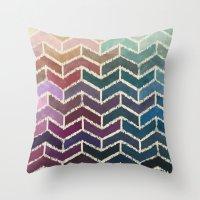 ikat Throw Pillows featuring Chevron iKat by Steven Womack