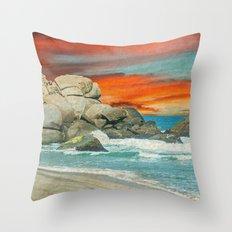HAPPY SEASCAPE Throw Pillow