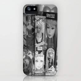 #BarbieLou with tomodachi b/w iPhone Case