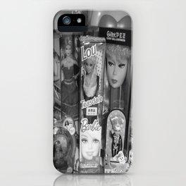 #BarbieLou with tomodachi b/w iPhone Case