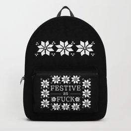 Festive as fuck Backpack