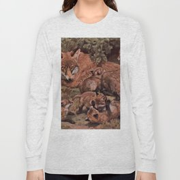 Vintage Fox and Cuba Painting (1909) Long Sleeve T-shirt