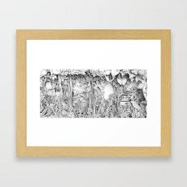 Cars in the Wild (3D version) Framed Art Print
