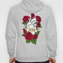 Heart and Roses_Love - Red Hoody