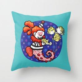 Cecil the Clown Fish Throw Pillow