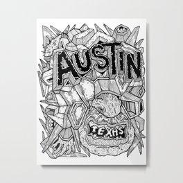 Geometric Mutations: Austin, TX Metal Print