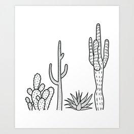 Cactus illustration Art Print