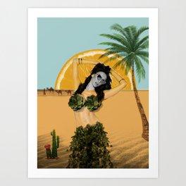 It's Desert Time Art Print