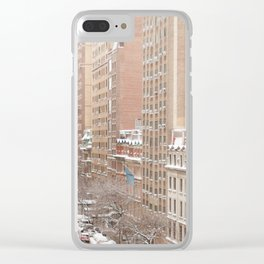 Snow Day in the Upper West Side Clear iPhone Case