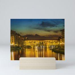 FLORENCE Ponte Vecchio at Sunset Mini Art Print