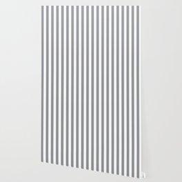 Vertical Grey Stripes Wallpaper