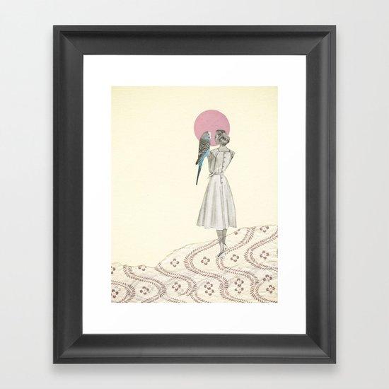 A Bird in the Hand Framed Art Print