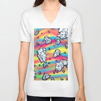 breaking V-neck T-shirts featuring Breaking by Taylor deVille