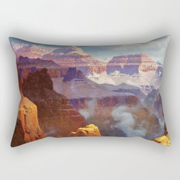 Temple of the Indian Gods (Grand Canyon) by William R. Leigh Rectangular Pillow