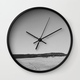 HALF MOON BAY IV (B+W) Wall Clock