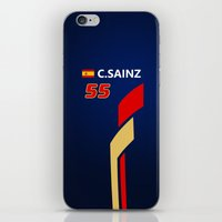f1 iPhone & iPod Skins featuring F1 2015 - #55 Sainz by MS80 Design