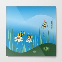 Bumblebees Metal Print