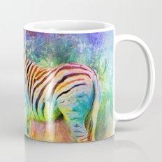 Jazzy Zebra Colorful Animal Art by Jai Johnson Mug