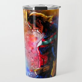 All Might Boku No Hero Academia My hero watercolor art Travel Mug
