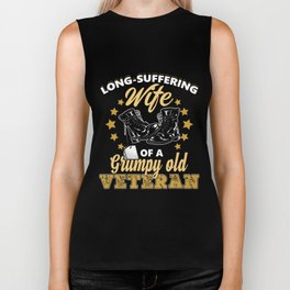 Long-Suffering Wife Of A Veteran T-Shirt Biker Tank