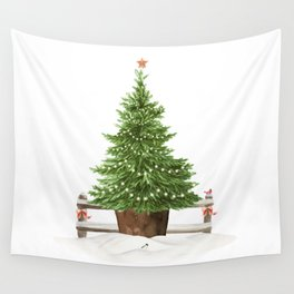 Christmas In The Country Wall Tapestry