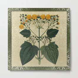 """Bouquet of vintage wild flowers"" Metal Print"