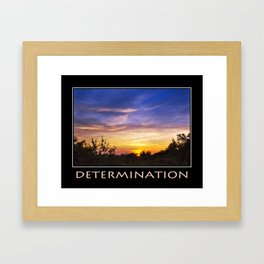 Inspirational Determination Framed Art Print
