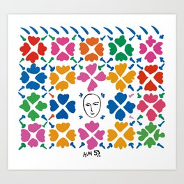 Large Composition with Masks by Matisse Art Print