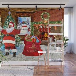 Merry Christmas From Santa Wall Mural