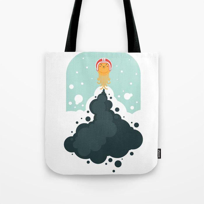 Rocket Octopus Tote Bag