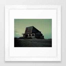 abandoned ski lift  Framed Art Print