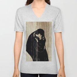 """Edvard Munch """"The Kiss"""", 1897 Unisex V-Neck"""