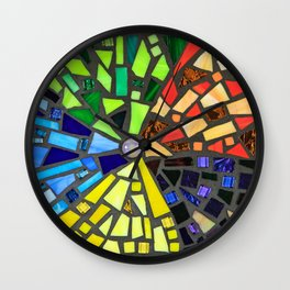 """Illumination"" mosaic art Wall Clock"