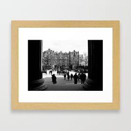 British Museum - Going out Framed Art Print