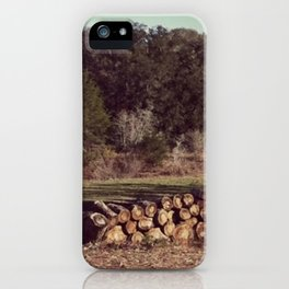 Ranch Firewood iPhone Case