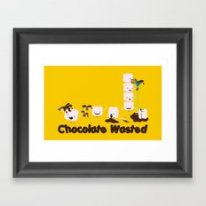 Chocolate Wasted (yellow) Framed Art Print