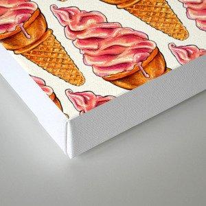 Ice Cream Pattern - Strawberry Canvas Print
