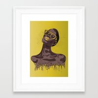 gold glitter Framed Art Prints featuring Glitter by MessyDesk
