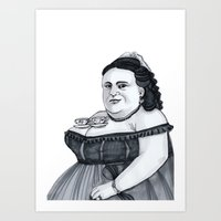 tits Art Prints featuring Tea Tits by Bad Luck