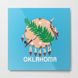 Oklahoma State Flag Metal Print