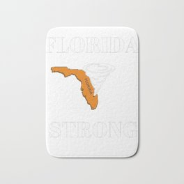 TAYEGU Hurricane Irma Florida Strong Men's T-shirt Bath Mat