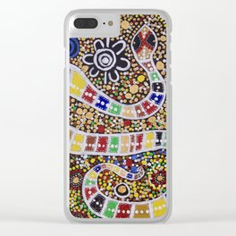 THE RAINBOW SERPENT Clear iPhone Case