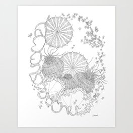 Sea Virus Art Print