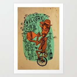 Welcome to the hell´s party Art Print